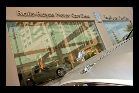 Rolls-Royce's new car showroom in Qatar